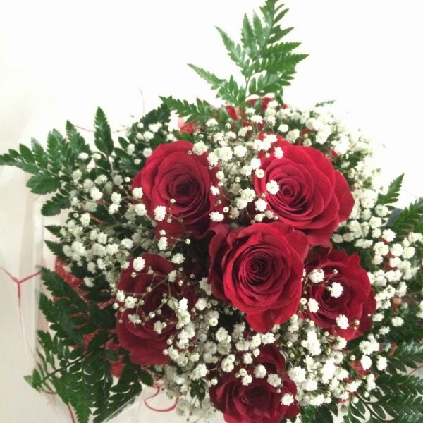 ramo 6 rosas con pani